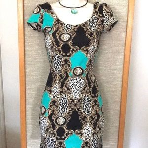 Body Con Cheetah Design Dress